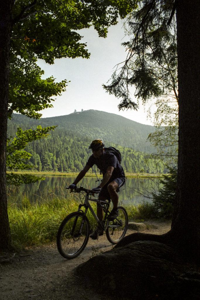 Blick hinüber zum Chef des bayerischen Waldes - dem großen Arber