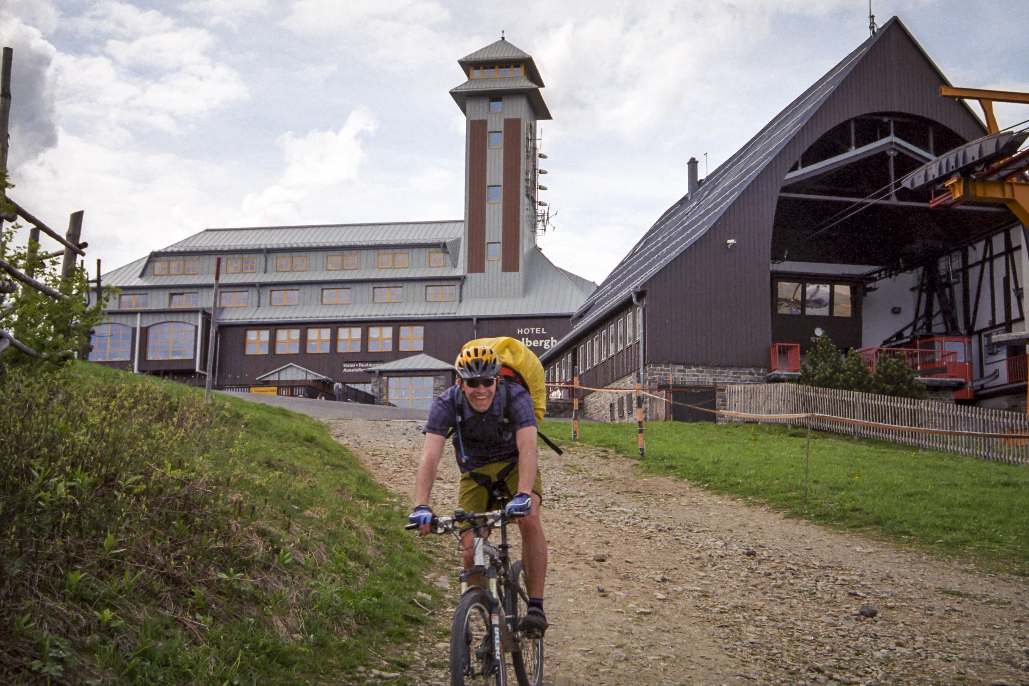 auf dem höchsten Berg der DDR bzw. des Sachsencross