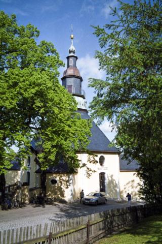 die Kirche von Seiffen