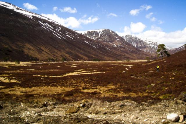 Einfahrt in den Cairngorms National Park