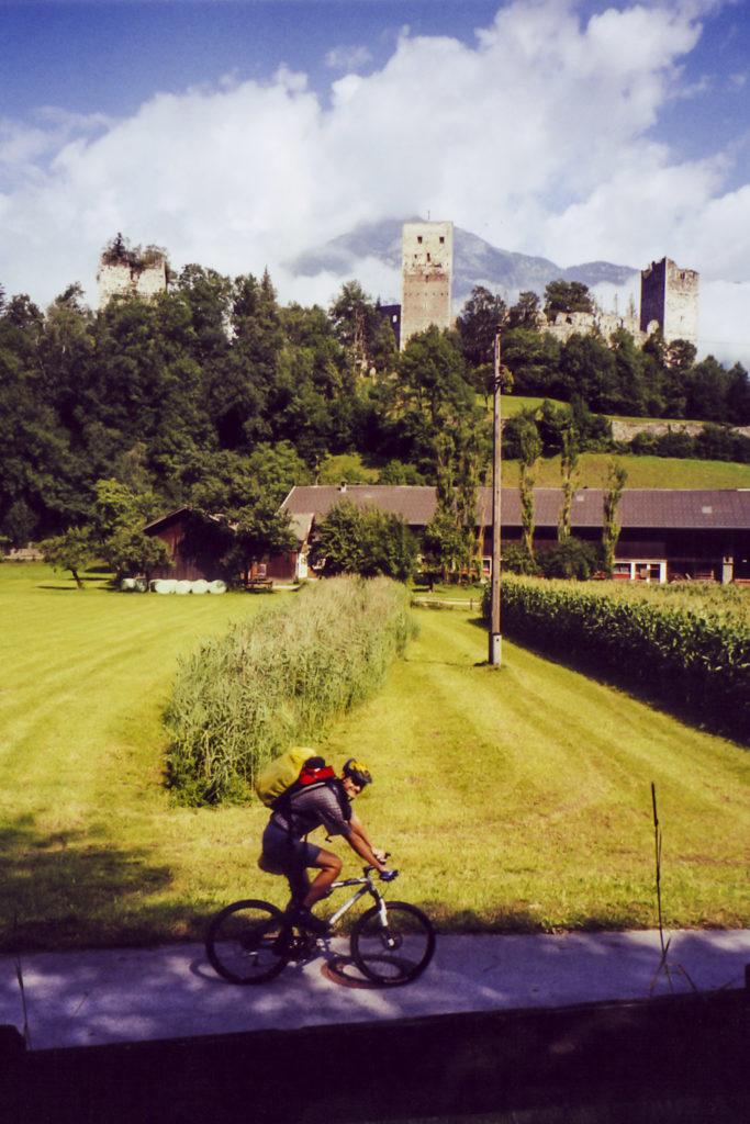 auf dem Radweg hinter Jenbach