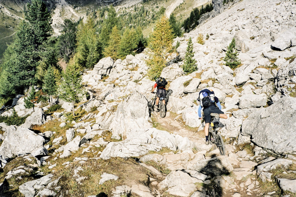 Abfahrt vom Passo S. Nicolo
