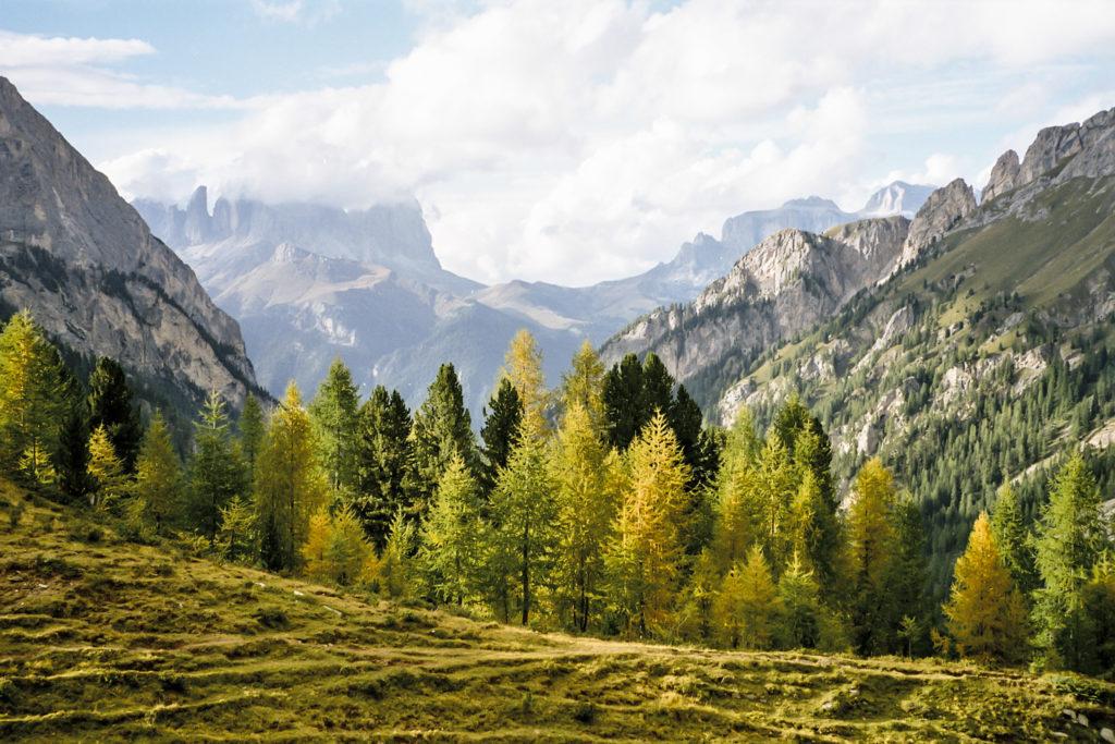 Blick direkt in die Dolomiten