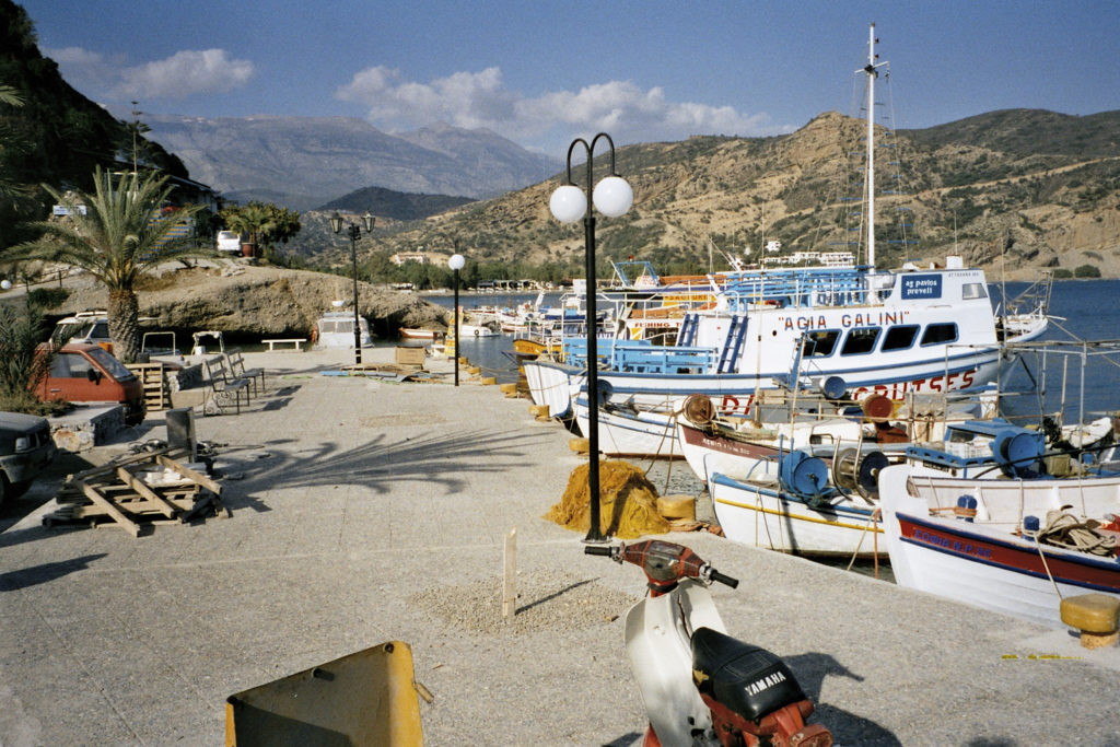im Hafen von Agia Galini