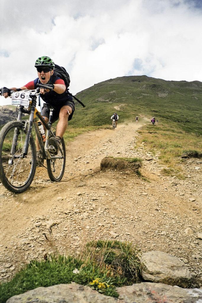 Downhill vom Rabbijoch nach Male