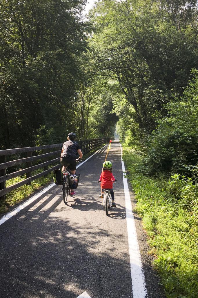 der Radweg an der Etsch ist durchgehend gut ausgebaut