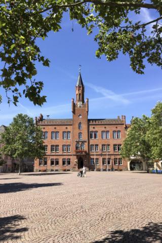 das Rathaus von Bitterfeld