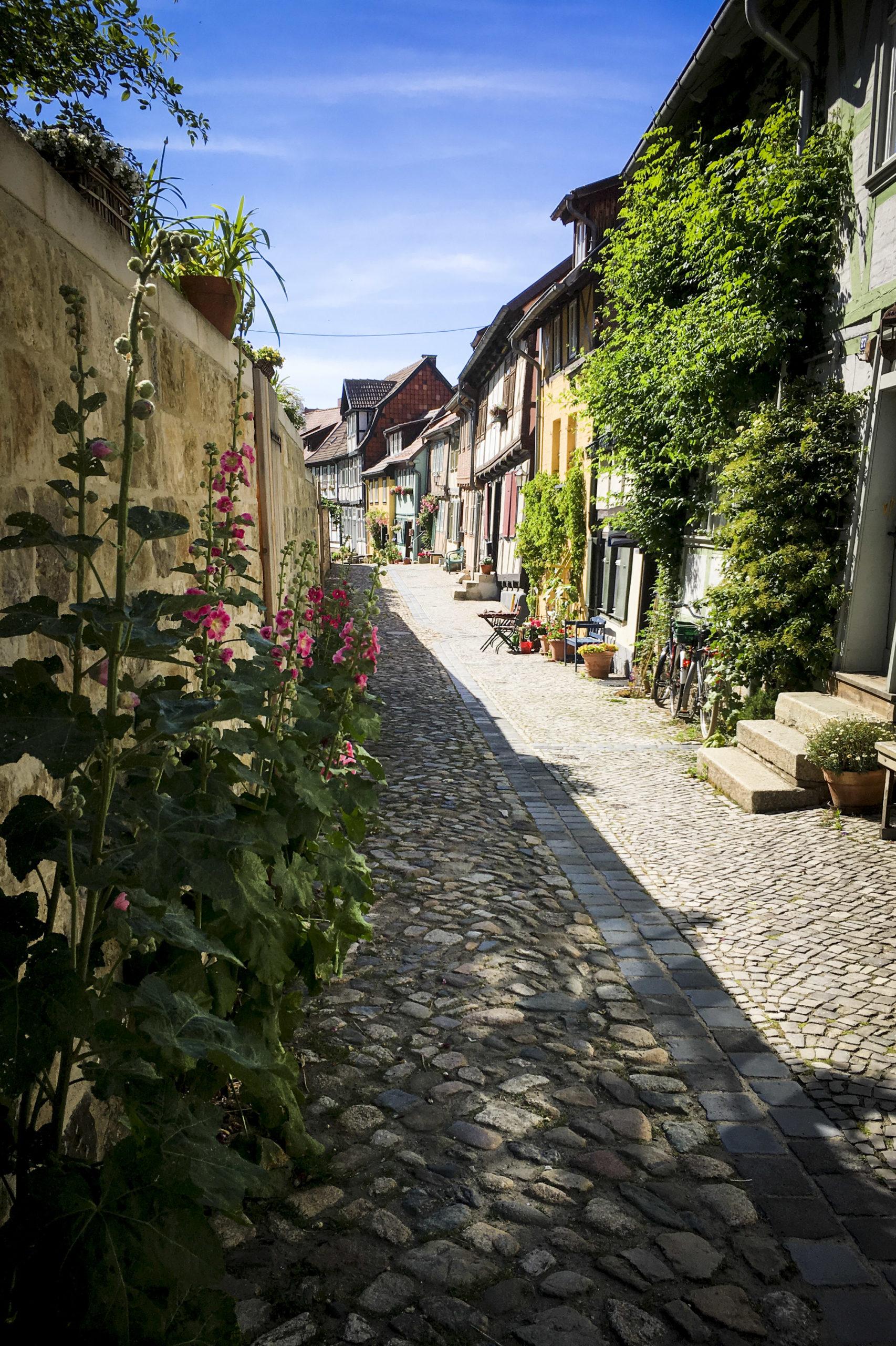 die hübschen Gassen Quedlinburgs