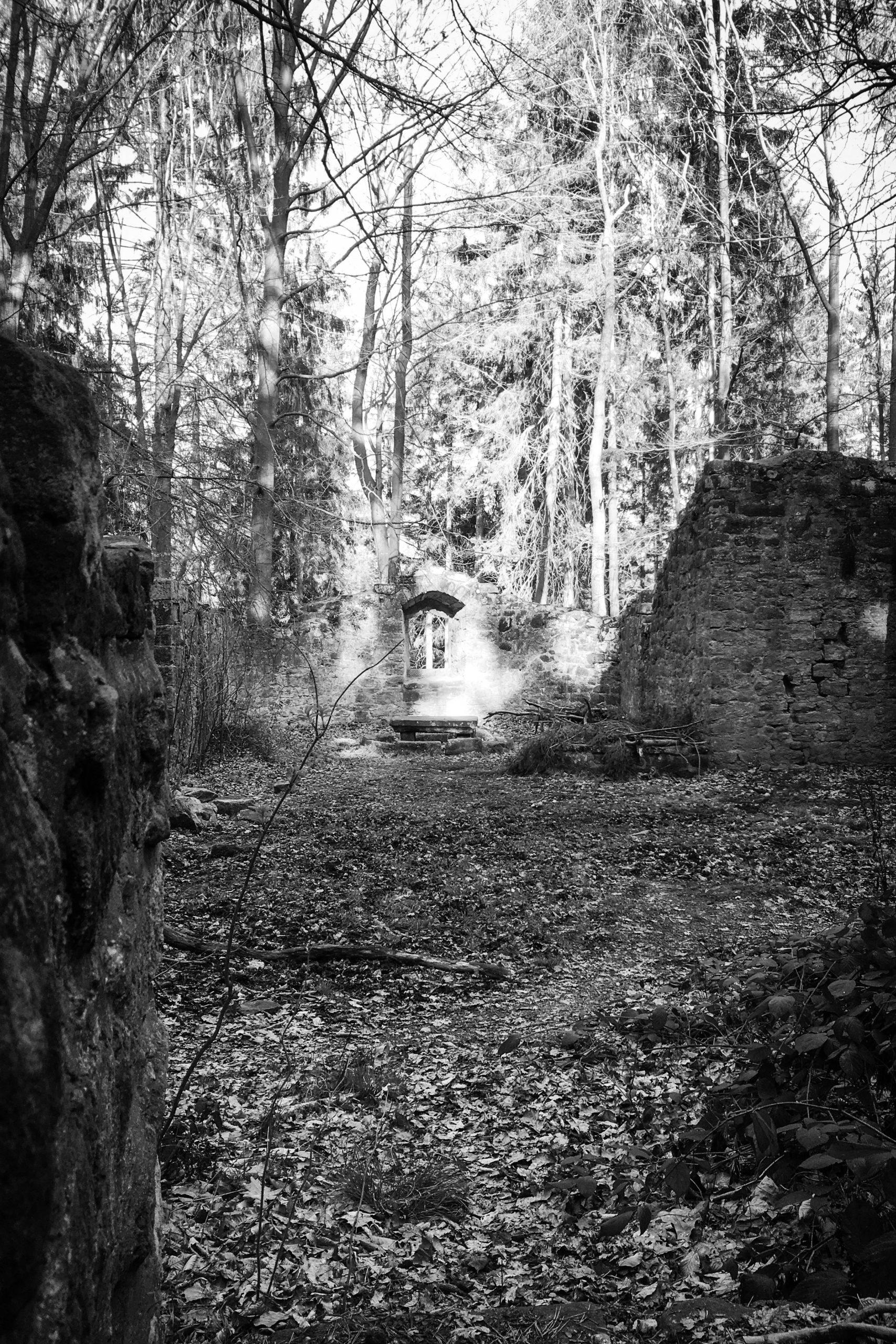 die Reste der Babarakapelle