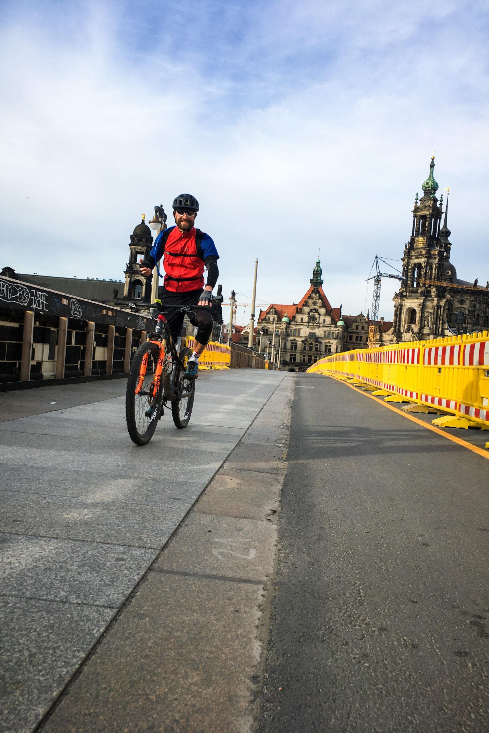 ausrollen aus dem schönen Dresden