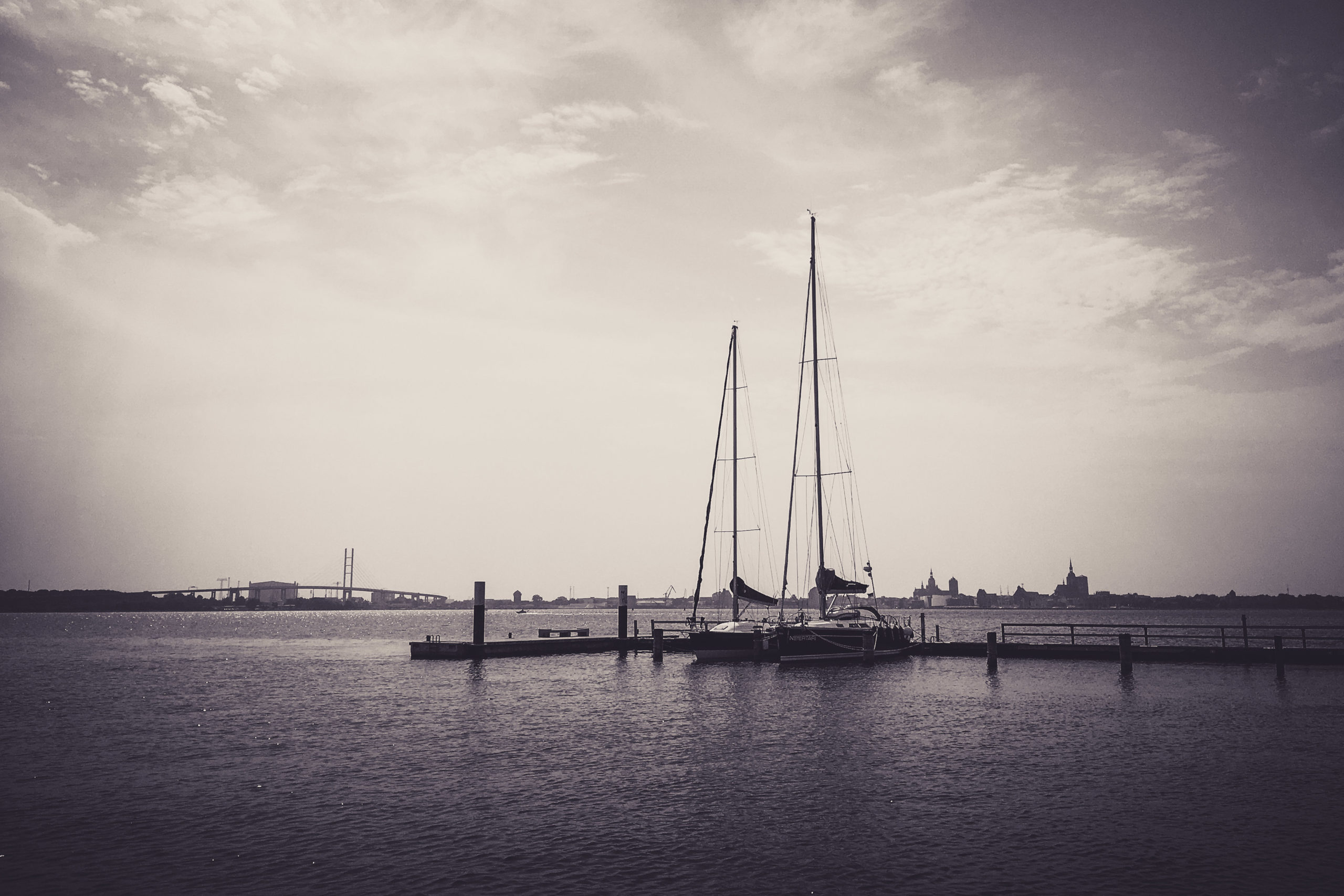 Blick von Altefähr nach Stralsund
