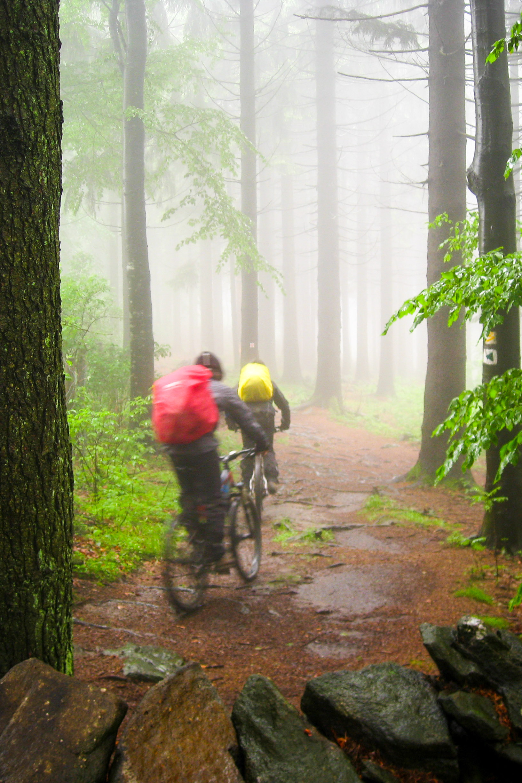 wieder im Regen nach der urigen Hanslhütte