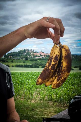 Mountainbiker lieben Bananen bei Stolpen