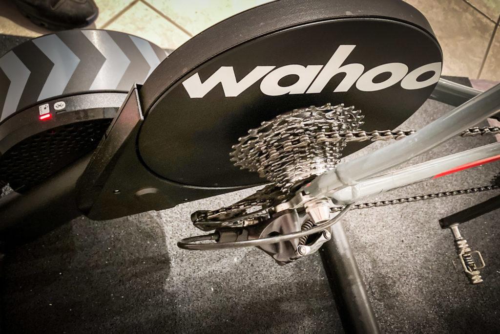 der Antriebsstrang des Rads im Zusammenspiel mit dem Wahoo Kickr