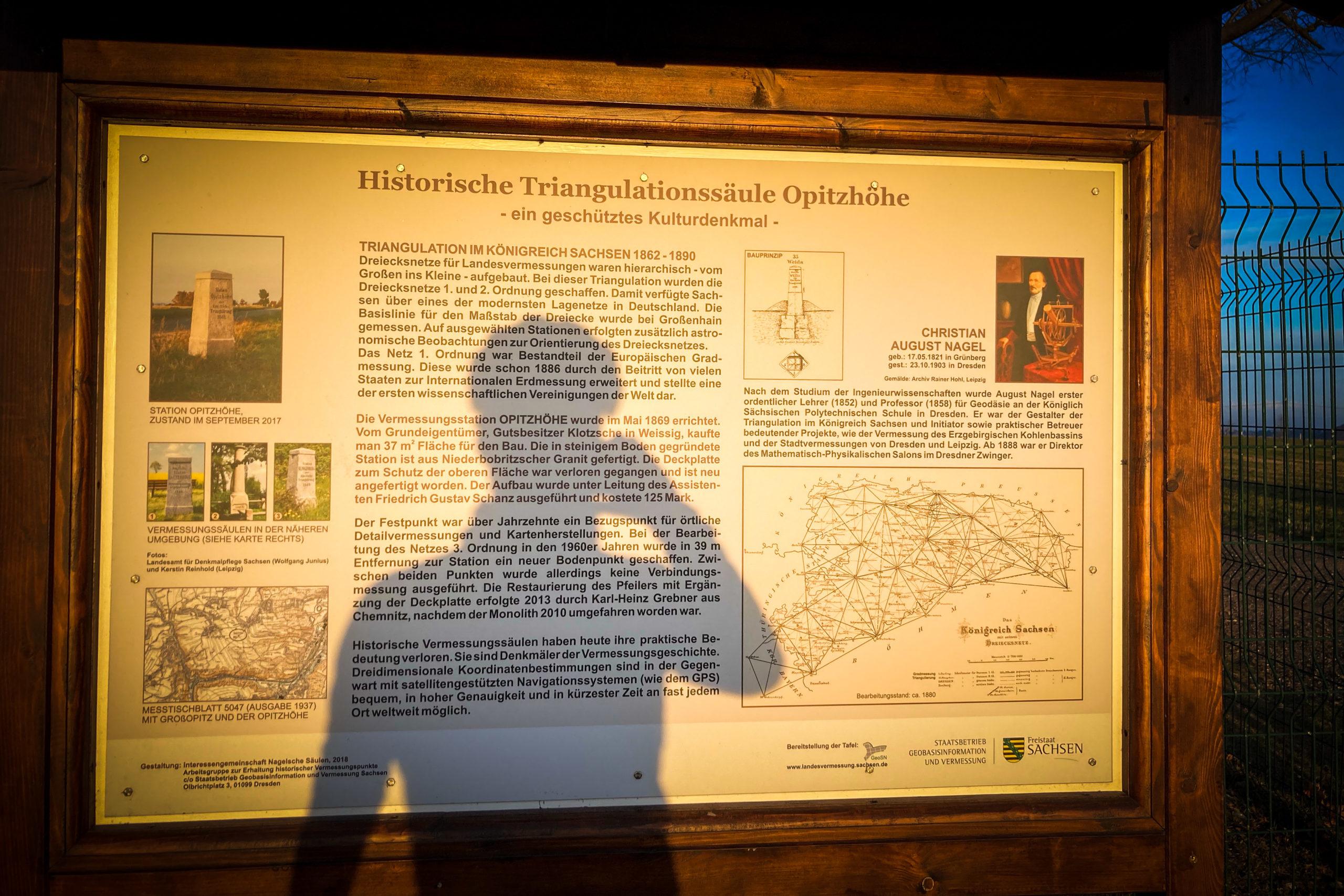 Erklärung des alten sächsischen Triangulationsnetz