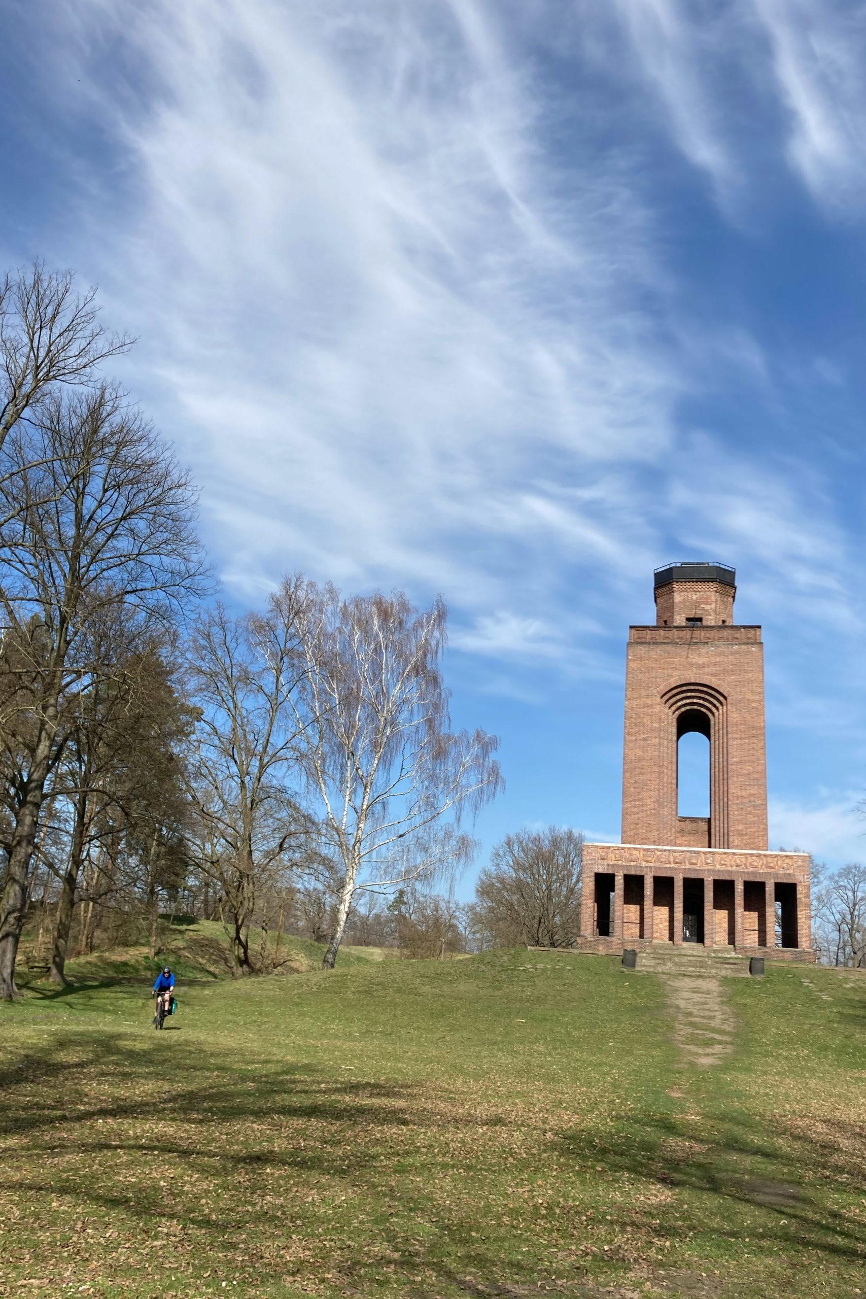 am Bismarckturm von Burg (Spreewald)