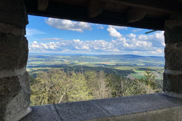 Blick vom Turm auf der Kösseine